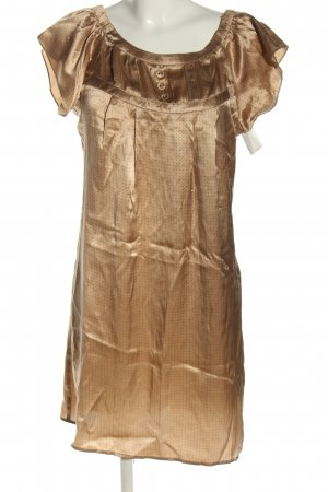 Sinéquanone Blusenkleid bronzefarben Punktemuster Casual-Look