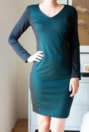 SINÉQUANONE Designer Kleid grün schwarz Gr. 38 / 40 wie neu!