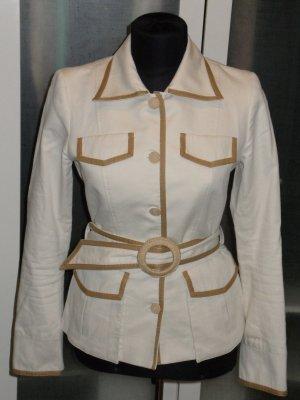 SINEQUANONE Jacke in creme mit braunen Details Gr.36