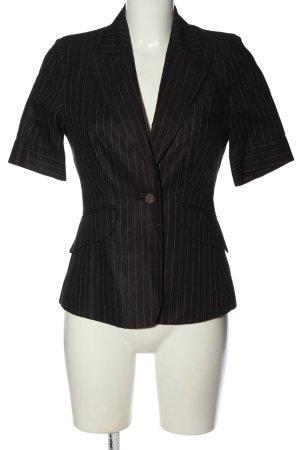 Sinéquanone Korte blazer zwart gestreept patroon zakelijke stijl