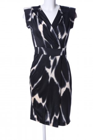 Sinéquanone Kurzarmkleid schwarz-weiß abstraktes Muster Business-Look