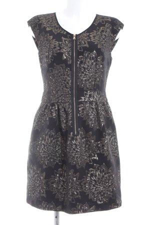 Sinéquanone Minikleid schwarz-silberfarben Blumenmuster Elegant