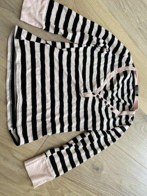 Sinéquanone Maglietta a righe nero-rosa pallido Viscosa