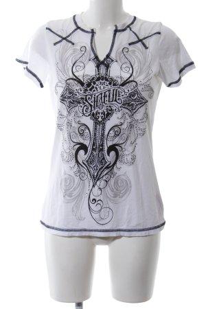 Sinful T-Shirt weiß-schwarz Motivdruck Casual-Look