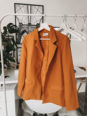 Single Button Blazer Orange