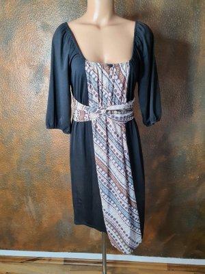 single dress kleid 3/4ärmel seide M