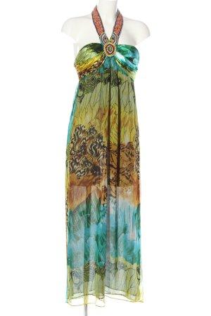 single dress Maxikleid abstraktes Muster Casual-Look