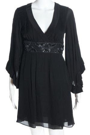 single dress Minikleid schwarz Schriftzug gestickt Elegant