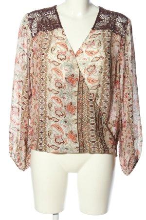 Single Blusa caída blanco puro-marrón estilo «business»