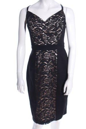 Single Spitzenkleid schwarz-wollweiß Elegant