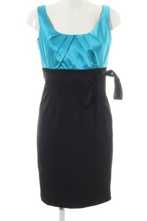 Single Trägerkleid schwarz-türkis Elegant