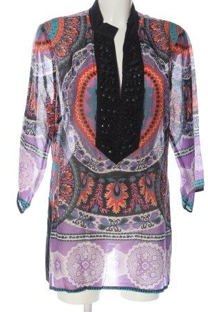 Single Blusa transparente estampado con diseño abstracto look casual