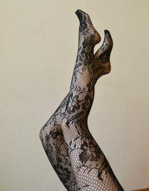 ♡ Sinnliche Netzstrumpfhose von KUNERT mit floralen Ornamenten und einem Mini-Makel am Fuß, NP 12,99€ ♡