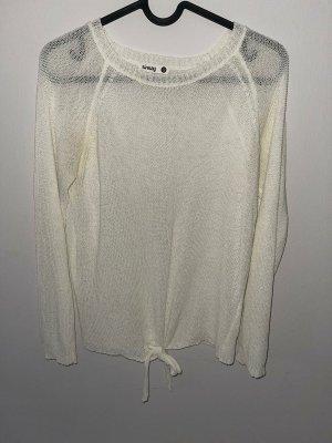 Sinsay Swetrowa sukienka biały