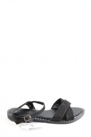 Sinsay Riemchen-Sandaletten schwarz Casual-Look