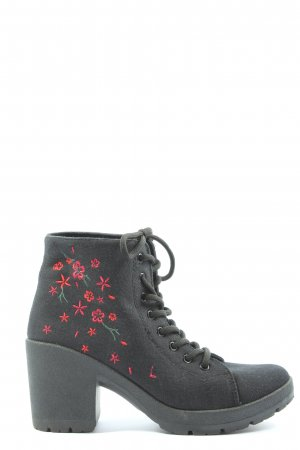 Sinsay Lace-up Booties multicolored casual look
