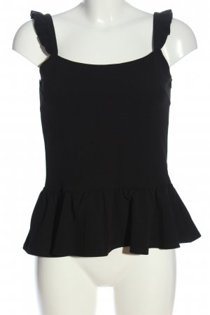 Sinsay Top peplum negro look casual
