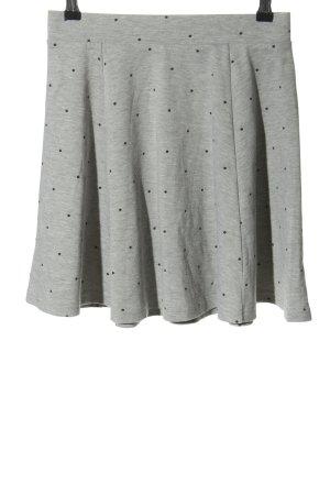 Sinsay Skater Skirt light grey-black spot pattern casual look