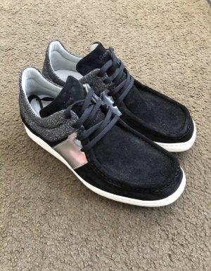 Sioux Grasdropper Damen Schuhe 4,5 37,5 schwarz weiß Glitzer NEUWERTIG