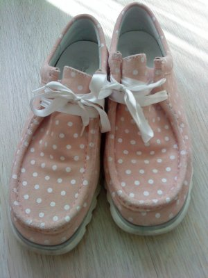 Sioux Moccasins white-pink leather