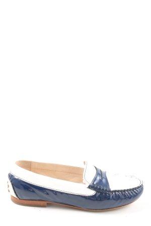 Sioux Mokassins blau-weiß Casual-Look