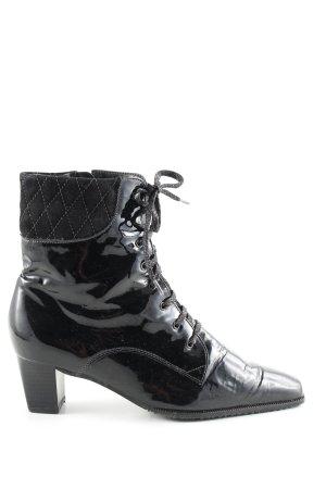 Sioux Reißverschluss-Stiefeletten schwarz Steppmuster Casual-Look