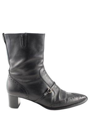 Sioux Reißverschluss-Stiefeletten schwarz Casual-Look