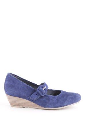 Sioux Riemchen Ballerinas blau-creme Business-Look