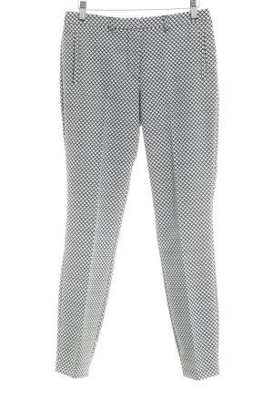 Sir Oliver Bundfaltenhose schwarz-weiß abstraktes Muster Casual-Look