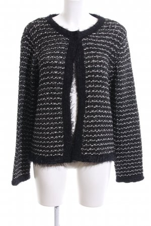 Sir Oliver Cardigan all'uncinetto nero-bianco stile casual