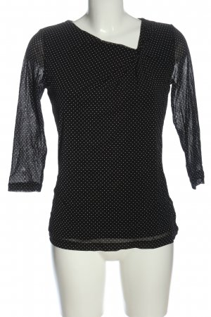 Sir Oliver Long Sleeve Blouse black allover print casual look