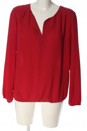 Sir Oliver Langarm-Bluse rot Casual-Look