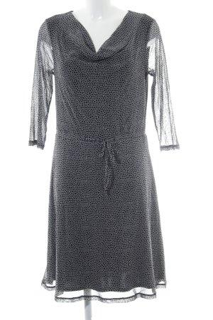 Sir Oliver Langarmkleid schwarz-weiß abstraktes Muster Elegant