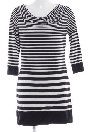 Sir Oliver Langarmkleid schwarz-weiß Streifenmuster schlichter Stil