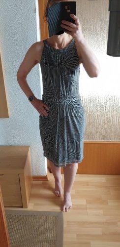 Sir Oliver Midi Kleid Etuikleid Knielang Sommerkleid schwarz-weiß 36 NEU