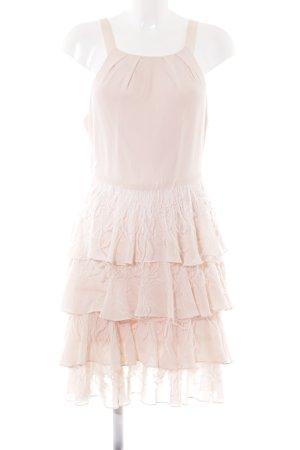 Sir Oliver Volantkleid weiß-rosé extravaganter Stil