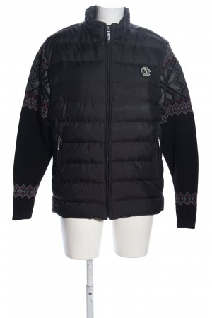 Sir Raymond Tailor Quilted Jacket black graphic pattern casual look