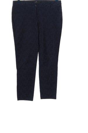 Sisley 7/8-Hose blau Allover-Druck Business-Look