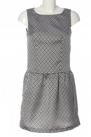 Sisley A-Linien Kleid weiß-schwarz Allover-Druck Casual-Look