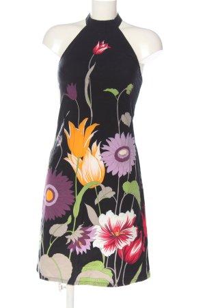 Sisley A-Linien Kleid schwarz-lila Allover-Druck Elegant
