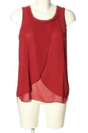Sisley ärmellose Bluse rot Casual-Look