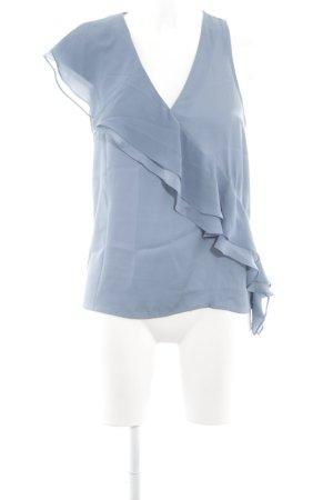Sisley ärmellose Bluse blau Elegant