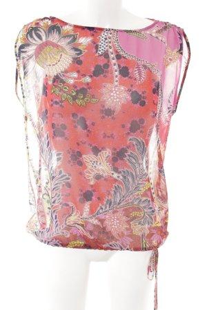 Sisley ärmellose Bluse Blumenmuster Schleifen-Detail
