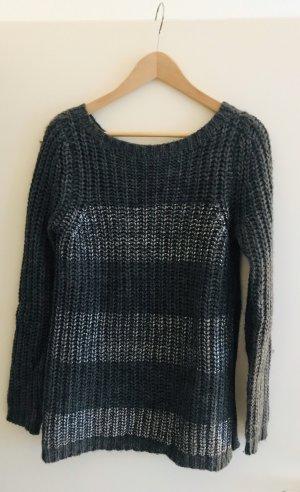 Sisley Jersey de punto grueso gris oscuro-color plata