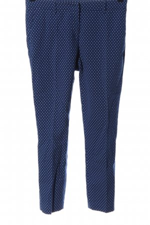 Sisley Spodnie garniturowe niebieski-biały Na całej powierzchni W stylu casual