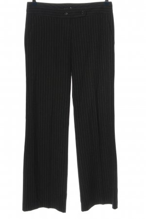 Sisley Baggy Pants schwarz Streifenmuster Business-Look