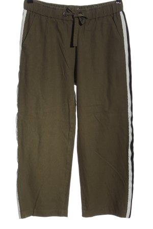 Sisley Luźne spodnie khaki W stylu casual