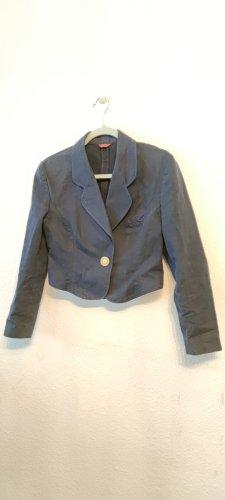 Sisley Blazer in jeans blu scuro