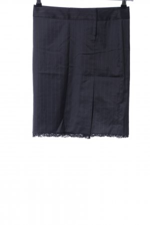 Sisley Bleistiftrock schwarz-hellgrau Streifenmuster Business-Look