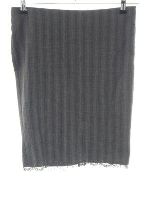 Sisley Bleistiftrock hellgrau Streifenmuster Business-Look